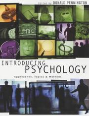 Cover of: Introducing Psychology | Donald Pennington