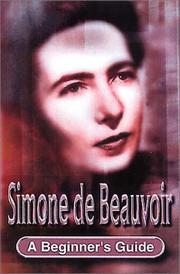 Cover of: Simone de Beauvoir