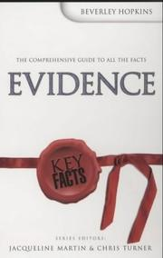 Cover of: Evidence (Key Facts)