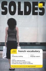 Cover of: French Vocabulary