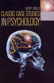 Cover of: Classic Case Studies in Psychology