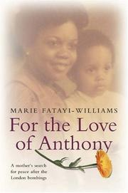 Cover of: For the Love of Anthony