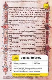 Cover of: Teach Yourself Biblical Hebrew