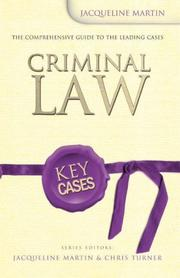 Cover of: Criminal Law (Key Cases) | Jacqueline Martin