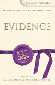 Cover of: Evidence (Key Cases)