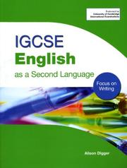 Cover of: Igcse English As a Second Language