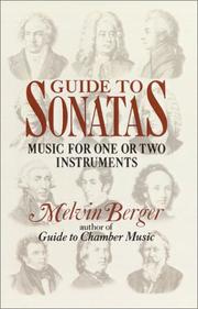 Cover of: Guide to Sonatas: Music for One or Two Instruments