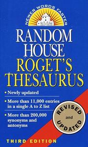 Cover of: Random House Roget