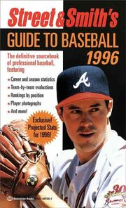 Cover of: Street & Smith's Guide to Baseball 1996 (Serial)