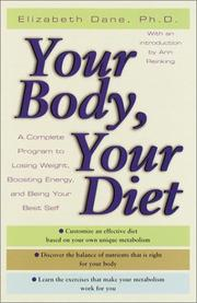 Cover of: Your Body, Your Diet