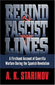 Cover of: Behind Fascist Lines