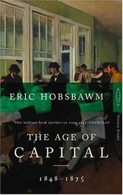 Cover of: The Age of Capital, 1848-75
