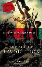 Cover of: The Age of Revolution