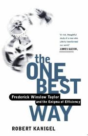 Cover of: THE ONE BEST WAY