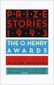 Cover of: Prize Stories 1993