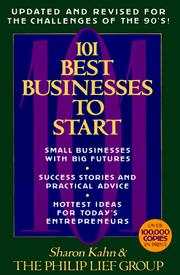 Cover of: 101 Best Businesses to Start