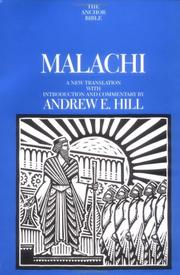 Cover of: Malachi |