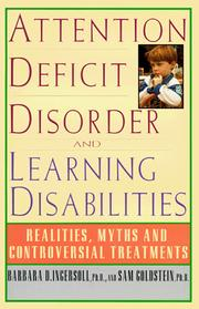 Cover of: Attention deficit disorder and learning disabilities