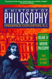 Cover of: History of Philosophy, Volume 4 (Modern Philosophy)
