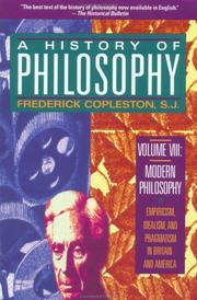 Cover of: History of Philosophy, Volume 8 (Modern Philosophy)