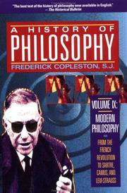 Cover of: History of Philosophy, Volume IX