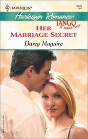 Cover of: Her marriage secret | Darcy Maguire