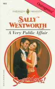 Cover of: Very Public Affair  (Scandals)