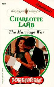 Cover of: Marriage War  (Forbidden) | Charlotte Lamb