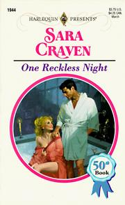 Cover of: One Reckless Night (50th Book) | Craven