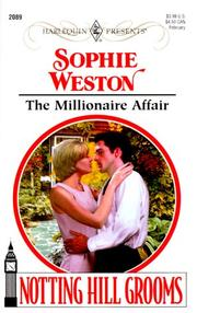 The Millionaire Affair (Harlequin Presents No. 2089)(Notting Hill Grooms)