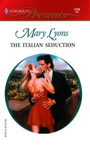 Cover of: The Italian Seduction | Mary Lyons
