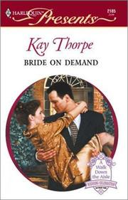 Cover of: Bride On Demand (Harlequin Presents, No 2185) | Thorpe