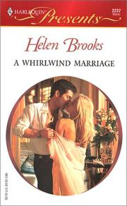 Cover of: A WHIRLWIND MARRIAGE by Helen Brooks