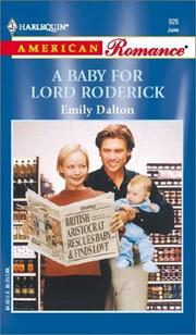 Cover of: A Baby For Lord Roderick  (Royal Flash)