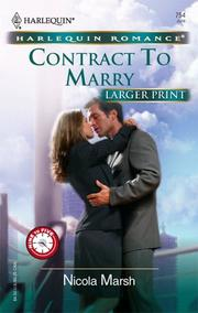 Cover of: Contract to marry | Nicola Marsh