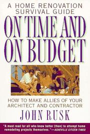 Cover of: On Time and On Budget | John Rusk