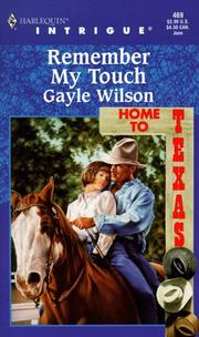 Remember My Touch (Home To Texas) (Intrigue , No 469)