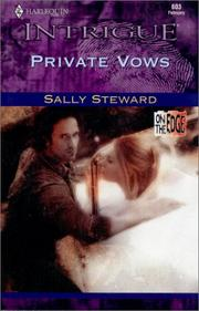 Cover of: Private Vows (On The Edge) (Intrigue, 603) | Steward