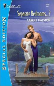 Cover of: Separate Bedrooms...? (Silhouette Special Edition) | Carole Halston