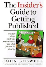Cover of: The insider's guide to getting published