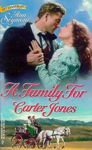 Cover of: A Family For Carter Jones