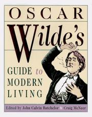 Cover of: Oscar Wilde's guide to modern living