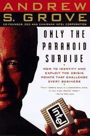 Cover of: Only the paranoid survive