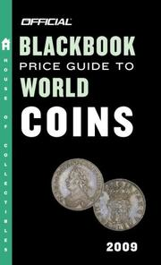Cover of: The Official Blackbook Price Guide to World Coins 2009