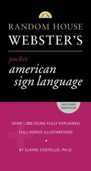 Cover of: Random House Webster's Pocket American Sign Language Dictionary