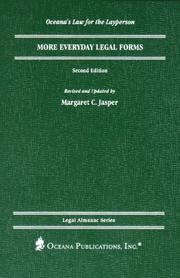 Cover of: More Everyday Legal Forms (Oceana's Legal Almanac Series. Law for the Layperson)