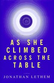 Cover of: As she climbed across the table
