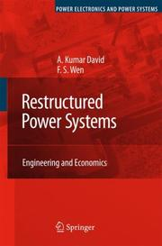 Cover of: Restructured Power Systems | A. Kumar David