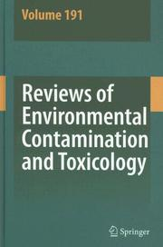 Reviews of Environmental Contamination and Toxicology by George W. Ware