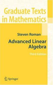 Cover of: Advanced Linear Algebra (Graduate Texts in Mathematics)